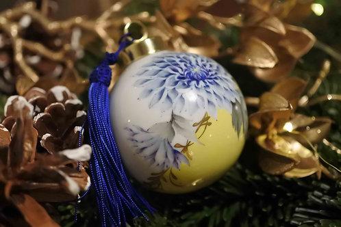 Christmas Ornament Blue x Yellow