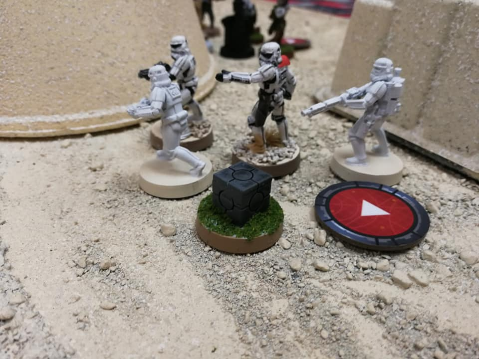My Stormtroopers where forced to fire upon a rebel squad thanks to Han Solo and his command card