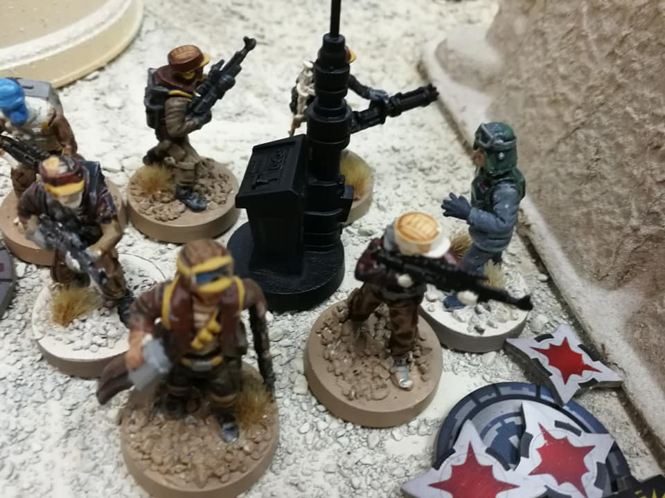 Veers ended up getting into a royal rumble with an entire squad of rebels!!! He lasted 3 rounds!