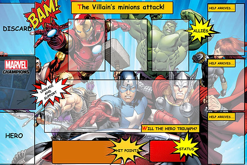 Marvel Champions Avengers  Player Mat