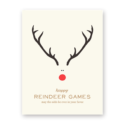 Reindeer Games Holiday Greeting Card