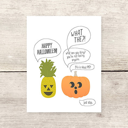 Pineapple Jack-o-lantern Greeting Card