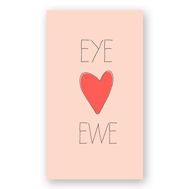 Heart Ewe mini card