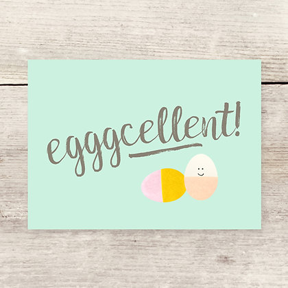 Eggcellent Easter Greeting Card
