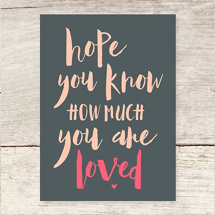 You Are Loved Flat Note Card