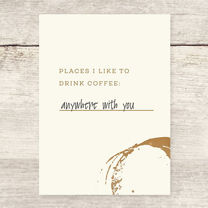Coffee Places Greeting Card