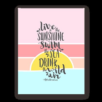 Sunrise Sunset Flat Note Card