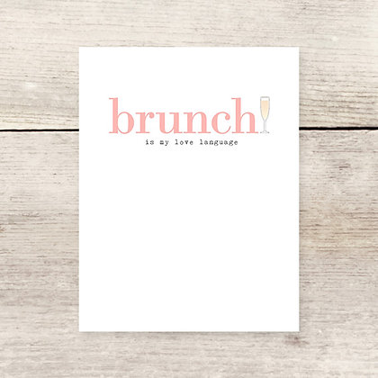 Brunch Love Language Greeting Card