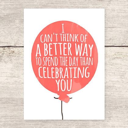 Celebrating You Greeting Card