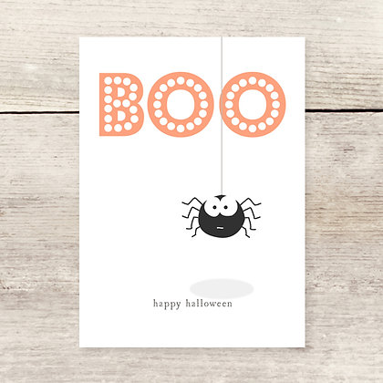 Boo Spider Halloween Card
