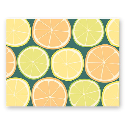 Seasonal Citrus Blank Greeting Card