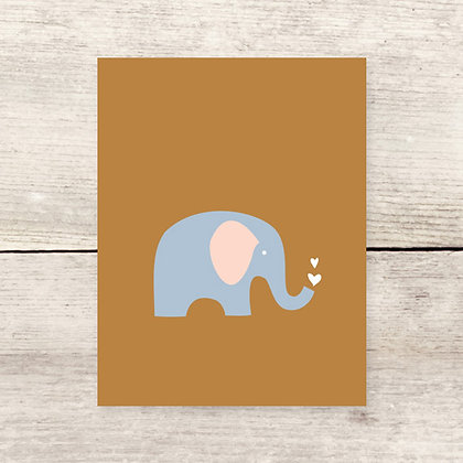 Elephant Hearts Greeting Card