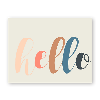 Hello Colors Greeting Card