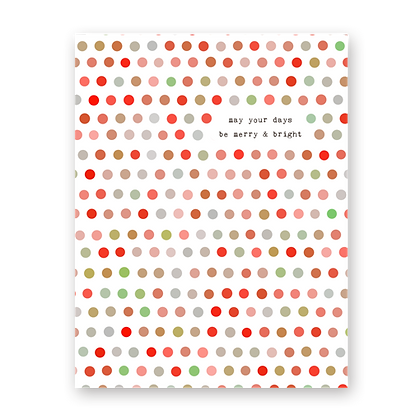 Merry Dots Holiday Greeting Card