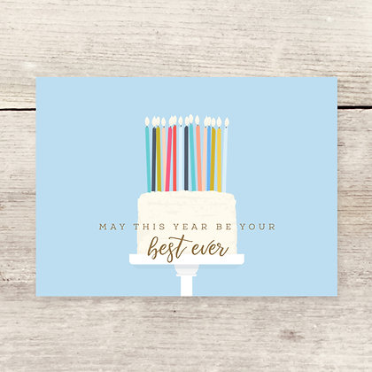 Candle Cake Birthday Greeting Card