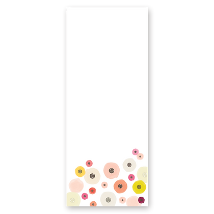 Floral Unlined Notepad