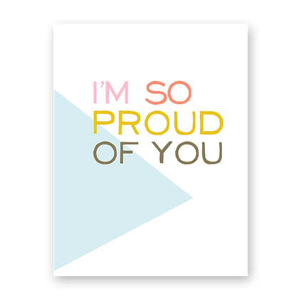 So Proud Greeting Card