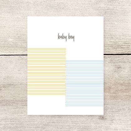 Striped Baby Boy Greeting Card