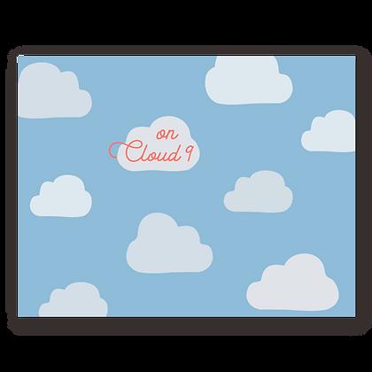 On Cloud 9 Greeting Card
