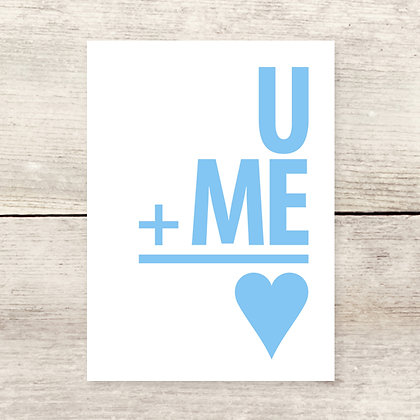 U + Me Love Greeting Card