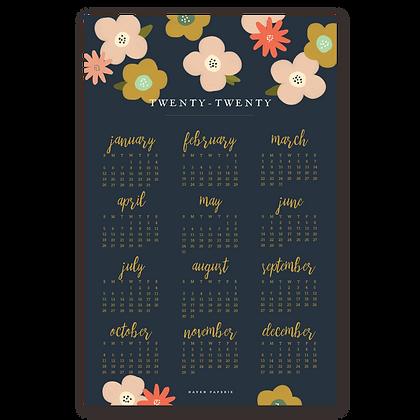 2020 Poppy Wall Calendar