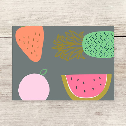 Blank Fruit Greeting Card