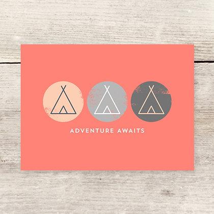 Adventure Awaits Greeting Card