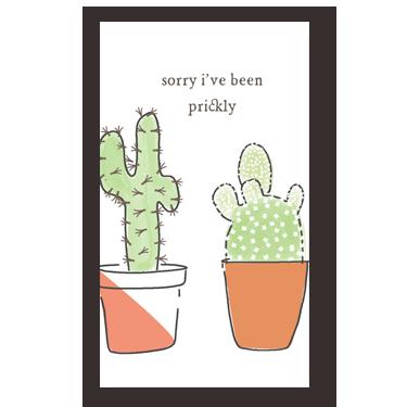 Prickly mini card