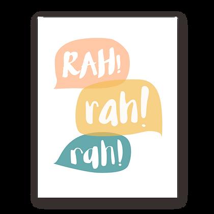 Rah Encouragement Greeting Card
