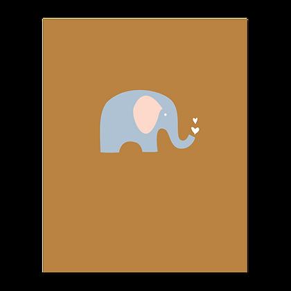 Elephant Hearts Art Print