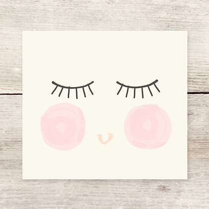 Girl Face Greeting Card