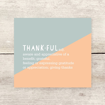 Thankful Defined Greeting Card