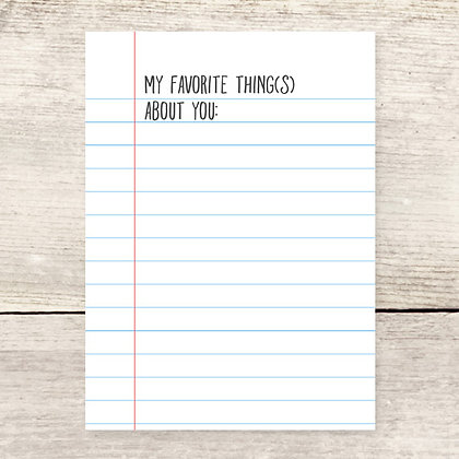 Favorite Things Greeting Card
