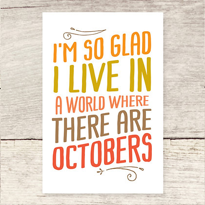 Octobers Note Card