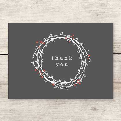 Wreath Thank You Greeting Card