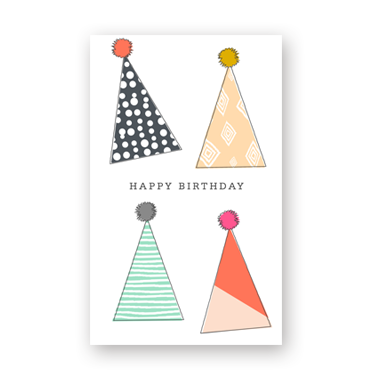 Birthday Party Hats mini card
