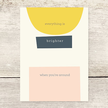 Brighter Shapes Greeting Card