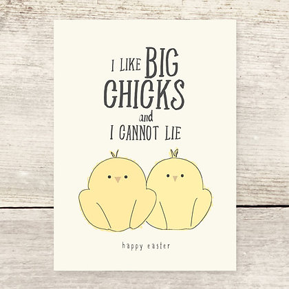 Big Chicks Easter Card