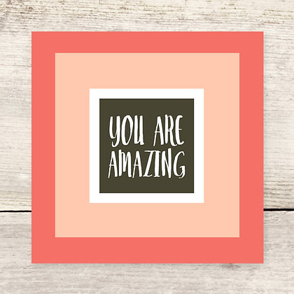 You Are Amazing Flat Note Card