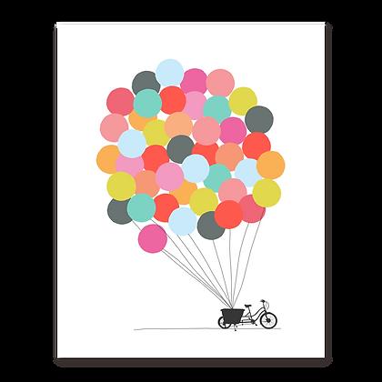 Bike + Balloons Art Print