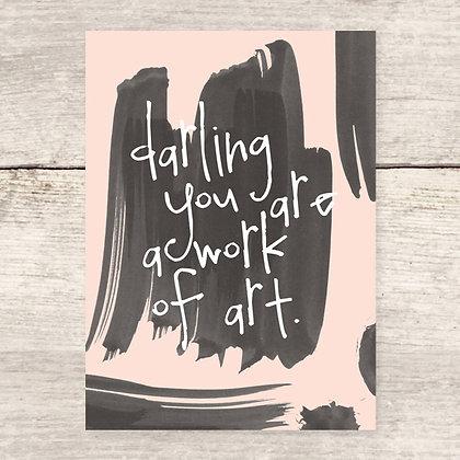 Darling Work of Art Flat Card