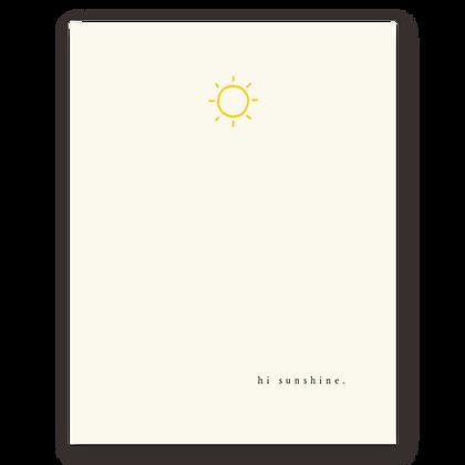 Hi Sunshine Greeting Card