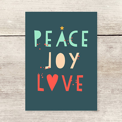 Peace Joy Holiday Greeting Card