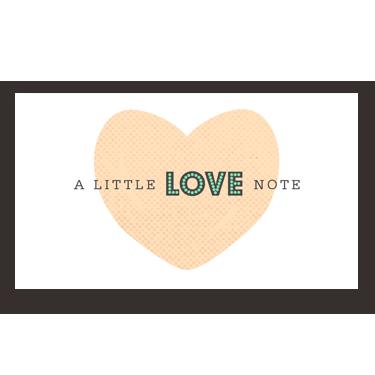 Little Love Note mini card