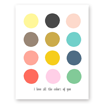 Colors of You Greeting Card