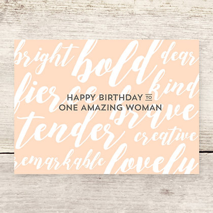 HBD Amazing Woman Greeting Card