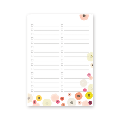 Floral Lined Notepad