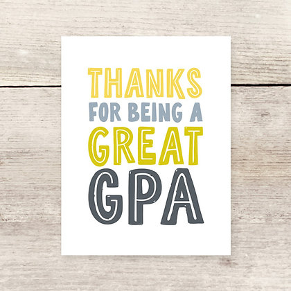 Thanks for Being Grandpa Greeting Card