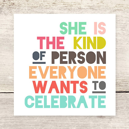 She Is Greeting Card