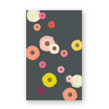 Blank Floral mini card